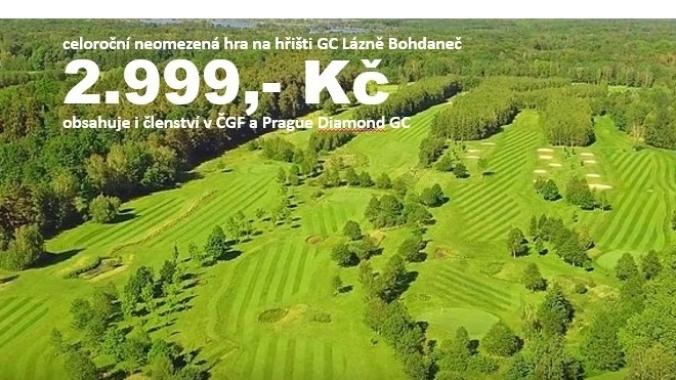 členství pro rok 2020 vč. celoročního greenfee v Lázních Bohdaneč